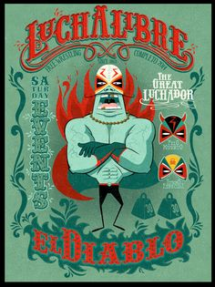 LUCHA LIBRE by CEM SEYLAN, via Behance