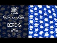 How to Knit the Birds Eye Stitch - NewStitchaDay.com