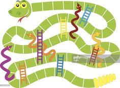 Vector Art : Snakes and ladders board game