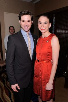 Andrew Rannells and Sutton Foster at the 2011 Tony Award Nominee Luncheon. If a photo of perfection exists, this is it.
