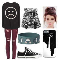 """""""*Sigh*"""" by marvelteen14 ❤ liked on Polyvore featuring Marc by Marc Jacobs, Converse, women's clothing, women, female, woman, misses and juniors"""