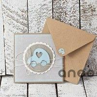 Kartka na chrzest, urodziny, narodziny, scrapbooking - kartki okolicznościowe