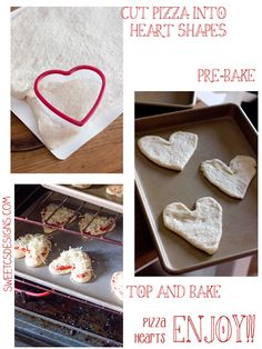 how to make heart shaped pizza