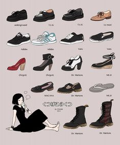 Drawing Shoe Reference underground T.K Adidas Vans Macana Le Must Dr.Martens Muji Drawing Shoe Reference underground T.K Adidas Vans Macana Le Must Dr. Kleidung Design, Drawing Anime Clothes, Shoe Drawing, Drawing Drawing, Poses References, Art Reference Poses, Drawing Reference, Drawing Tips, Fashion Design Sketches