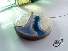 Collana in ceramica Raku e filo d'acciao di di LaTerraCanta, €19.00