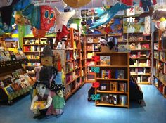Reading Reptile -- Okay, this might be a book store for children, but you don't have to be a kid to appreciate it. They've decorated with giant versions of your favorite storybook characters and they have a children's playplace, a theater for performances, and a cupcake shop up front. The bookshelves are stuffed with every kids book known to man?