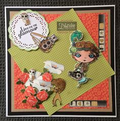 Pauline Orr - Matt Black card, Verity Rose CD Rom - Papers -stamps from Starlet kit and Accessories kit - die cuts from paper kit - Spectrum Aqua pens - Doily die - Archival black ink - Collall 3D glue gel - Collall All Purpose glue - #crafterscompanion #spectrumaqua