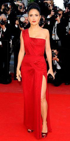 """Salma Hayek in Gucci Première for the premiere of """"Il Gattopardo"""" (2010 Cannes International Film Festival)"""