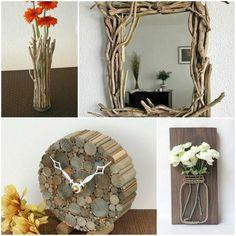 Dyi Crafts, Driftwood, Diy Design, Garden Design, Diy Ideas, Decoration, Frame, Inspiration, Home Decor