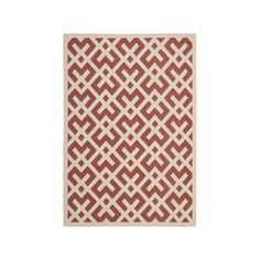Zoey Rug 5'3x7'7 Red & Bone now featured on Fab.