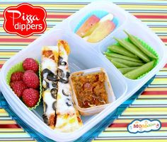 Summer Camp & School Lunch Idea: Pizza Dippers