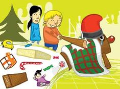 Caga Tio Catalan Christmas Tradition, A wooden log with a smiley face painted onto one end is the equivalient of santa. They cover his rear with a blanket, feed him orange peel. Caga Tio poos out presents when kids beat him with a stick while singing a song