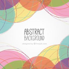 Hand painted abstract background Free Vector