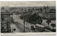 Sturt St in Ballarat,Victoria (year unknown). Old Pictures, Old Photos, Time In Australia, Australian Continent, Melbourne Victoria, My Land, Largest Countries, Small Island, Urban Landscape