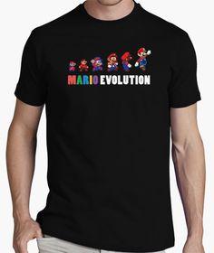 Cuantos de vosotros habeis vivido la evolución al completo? #mariobros #retro #nintendo #camiseta #tshirt Custom Tee Shirts, Printed Shirts, Mario, Going Crazy, Persona, Funny Tshirts, Mens Tops, T Shirt, Nintendo