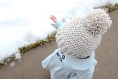 delia creates: Crocheted Ribbed Beanie