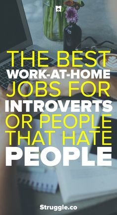 One of the best things about working from home is not having to deal with people. Here are the best work-at-home jobs for introverts or people that hate people.