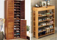 Sapateira: 5 modelos para Organizar seus Sapatos - Do Edu Baseboards, Wine Rack, Tall Cabinet Storage, Room Decor, Diy, Furniture, Shoe Rack Pallet, Organize, Home Decor