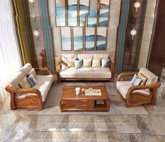 Wooden Sofa Designs, Teak, Couch, Throw Pillows, Retro, Dollhouses, Miniatures, Adidas, Furniture