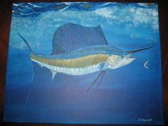 Dropping back to a hot Sailfish by StarrattStudios on Etsy, $199.99