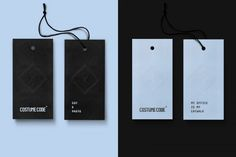 Also the hang tags are created in two color versions.