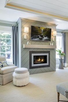 8 ways to warm up to wooden fireplace surrounds.