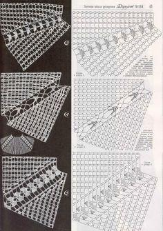 "Photo from album ""Дуплет on Yandex. Gilet Crochet, Crochet Yoke, Crochet Quilt, Crochet Cardigan Pattern, Crochet Collar, Crochet Diagram, Crochet Stitches Patterns, Crochet Blouse, Crochet Chart"