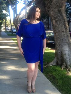love this blue plus size dress! I've got a similar one in purple i'm just DYING to wear!
