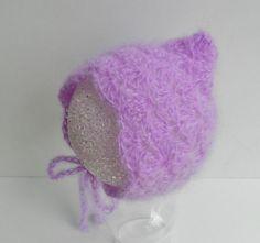 Baby Hat - Photo Prop - Baby Mohair Hat -Baby Bonnet - Newborn Baby Hat 94bd08726840