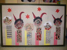 Čertíci a andílci San Antoni, Christmas Crafts For Kids, My Children, Advent Calendar, Holiday Decor, Winter, Education, School, Carnivals