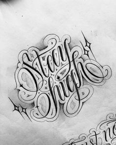 64 Ideas For Tattoo Fonts Cursive Gangster Chicano Tattoos Lettering, Tattoo Lettering Design, Graffiti Lettering Fonts, Tattoo Fonts Cursive, Tattoo Design Drawings, Tattoo Script, Tattoo Designs, Chicano Drawings, Tattoo Fonts Alphabet