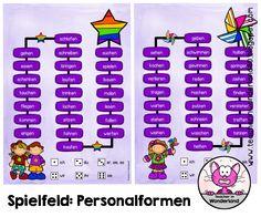 Teacher In Wonderland: Spielfeld: Verben - Personalformen bilden