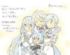 Fire Emblem: if/Fates - Aqua x Kamui x Kanna x Shigure