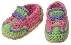 Zapatos de bebé ganchillo de Sophia Grace por gourmetcrochet