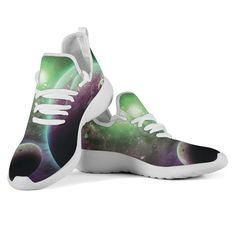 Knit Sneakers, Adidas Sneakers, Green Galaxy, Galaxy Space, Men And Women, Knitted Fabric, Snug Fit, Lace Up, Knitting