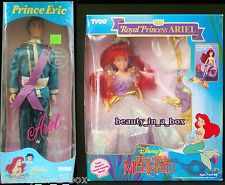 Royal Princess Ariel Prince Eric Royal Attire Little Mermaid Tyco Disney Doll SW