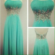 Turquoise  dress OMG I love this but would never have a place to wear it