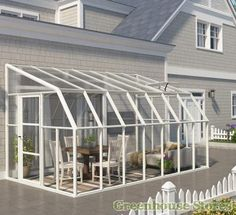 Rion Sun Room 8x14 Lean to Greenhouse - Polycarbonate Glazing