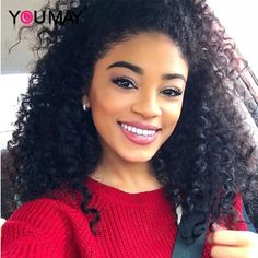 87.20$  Watch now - http://alimqg.worldwells.pw/go.php?t=32702073697 - 360 Frontal Virgin Mongolian Deep Wave Curly 360 Full Lace Band Frontals With Baby Hair Natural Hairline Lace Frontal Closure