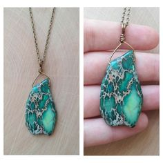 Teal Imperial Jasper Necklace