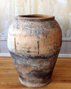"""Rustic Spanish Antique Oil Jar- 22.5"""""""