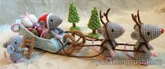 New to OorWoolly on Etsy: Miniature Mice - Amigurumi - Knitted Mice - Mouse Ornament - Christmas Decorations - Christmas Ornaments - Stocking Stuffer -Stocking Filler USD) Diy Crochet And Knitting, Crochet Amigurumi Free Patterns, Crochet Motif, Crochet Crafts, Yarn Crafts, Crochet Toys, Crochet Projects, Christmas Crafts, Christmas Decorations