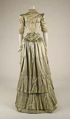 1881-82 French Silk Dress