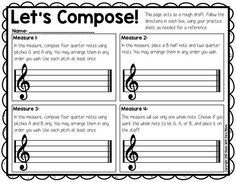 Compose Your Own! BAG Composition FREE composition activity that can be used for recorders or in general music!FREE composition activity that can be used for recorders or in general music! Music Lesson Plans, Music Lessons, Piano Lessons, Middle School Music, Music Activities, Classroom Activities, Music Education, Health Education, Physical Education