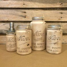 A personal favorite from my Etsy shop https://www.etsy.com/listing/398980059/vintage-mason-jar-kitchen-canisters