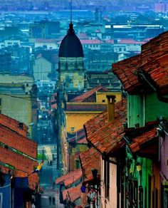La Candelaria, Bogota, Colombia the colours look so intense. Trip To Colombia, Colombia Travel, Oh The Places You'll Go, Places To Travel, Places To Visit, Travel Destinations, Ushuaia, Ecuador, Les Continents