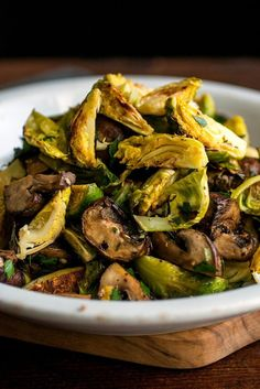 NYT Cooking: When I discovered how delicious Brussels sprouts are when the edges are lightly browned, whether by pan-roasting or oven-roasting, they became a top winter vegetable in my house. Both the Brussels sprouts and the mushrooms roast quickly in a hot oven. I roast them separately so that the juice from the mushrooms doesn't prevent the Brussels sprouts from browning properly. You...