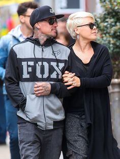 Singer Pink and her husband Carey Hart out shopping in New York City, New York on April 27, 2014.
