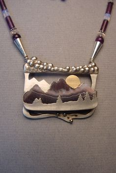 Amethyst Mountain Sunrise - necklace - tribe.net Awesome!