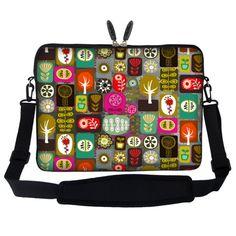 Meffort Inc 17 17.3 inch Laptop Sleeve Bag Carrying Case with Hidden Handle and Adjustable Shoulder Strap - Symbol Design Meffort Inc